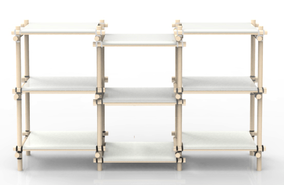 Möbel schnell zusammen bauen - Gummitwist Möbel von Nino Gülker
