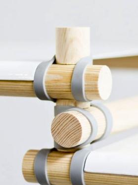 Möbel schnell zusammen bauen - Gummitwist Möbel von Nino Gülker (Verbindungsdetail)