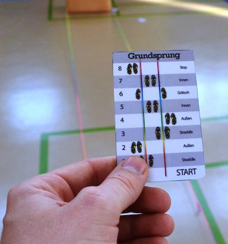 Gummitwist Sprungkarten für den Einsatz im Sportunterricht